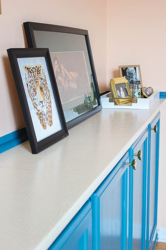 Cheap Countertop Ideas - DIY Upholstered Countertop