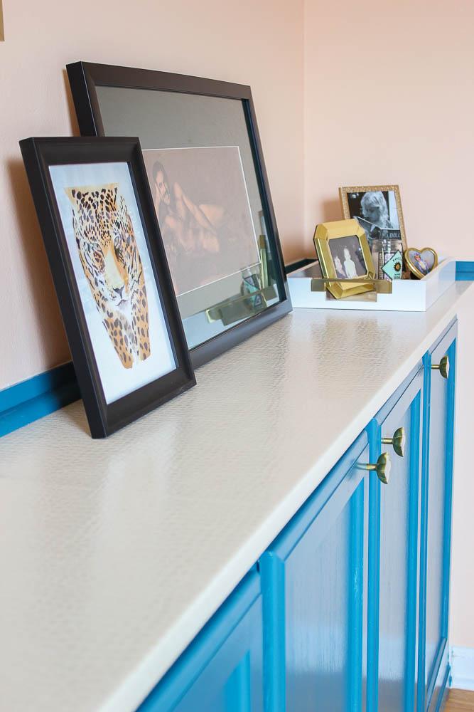 Cheap Countertop Ideas - DIY Upholstered Countertop
