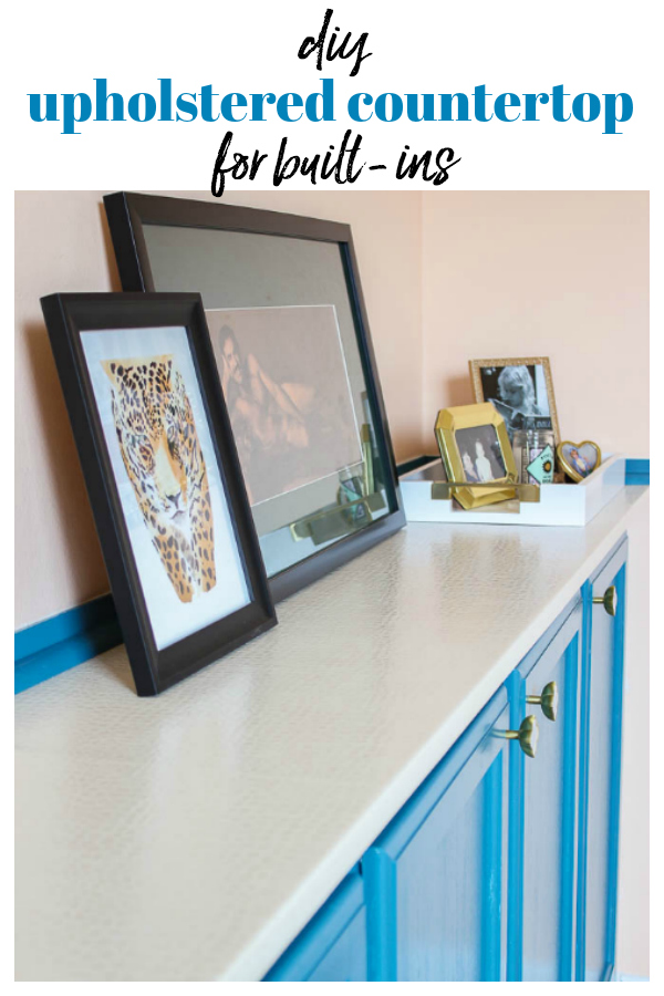 Countertop Ideas - Upholstering a Countertop on Built In Cabinets