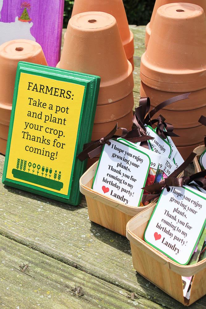 Farm Birthday Party Ideas - Party Favors