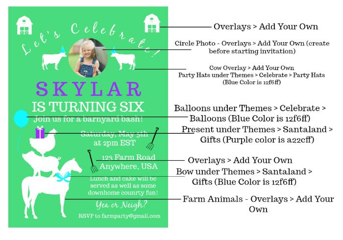 DIY Birthday Invitations using PicMonkey