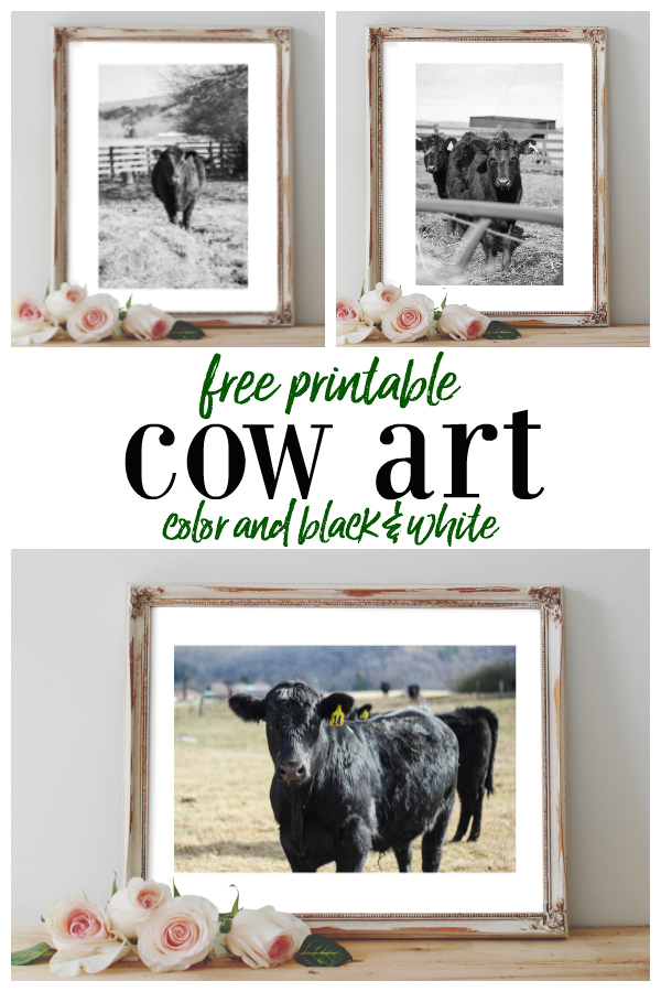 Printable Cow Art