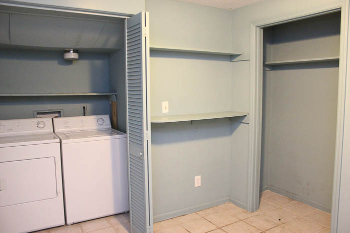Laundry Room Mudroom Before