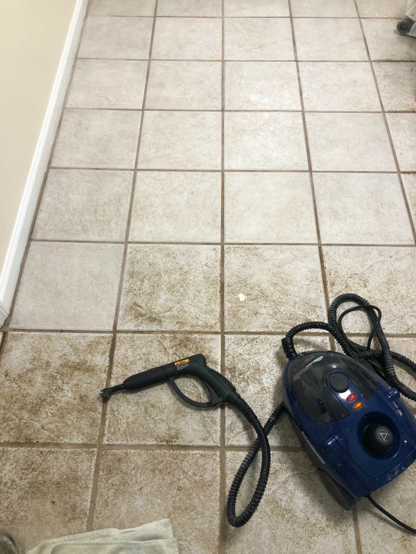 Cleaning Tile with HomeRight Steam Machine
