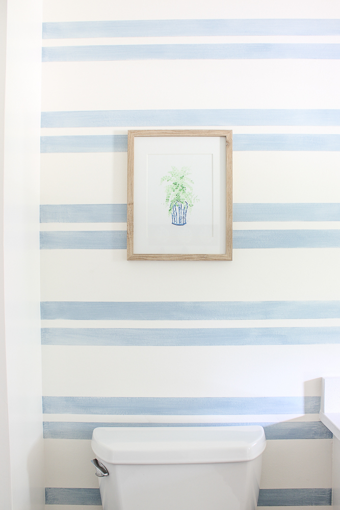 Striped Walls with Washed Out Blue Stripes