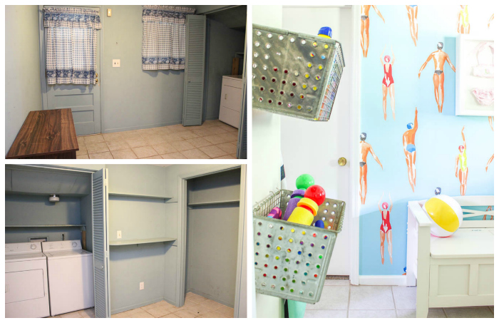 Before and After Laundry Room and Mudroom