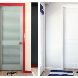 DIY Louvered Closet Door Makeover