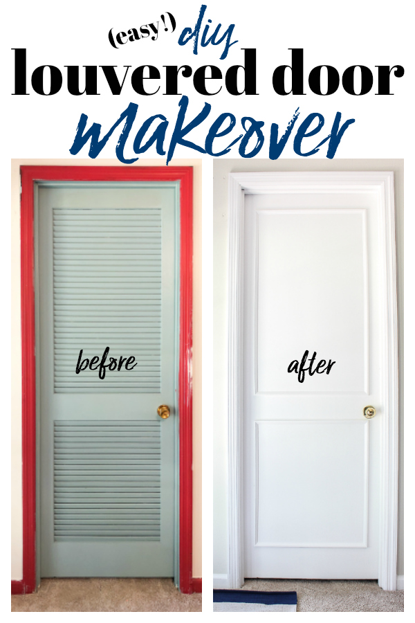 How To Cover Louvered Doors An Easy Diy Door Makeover