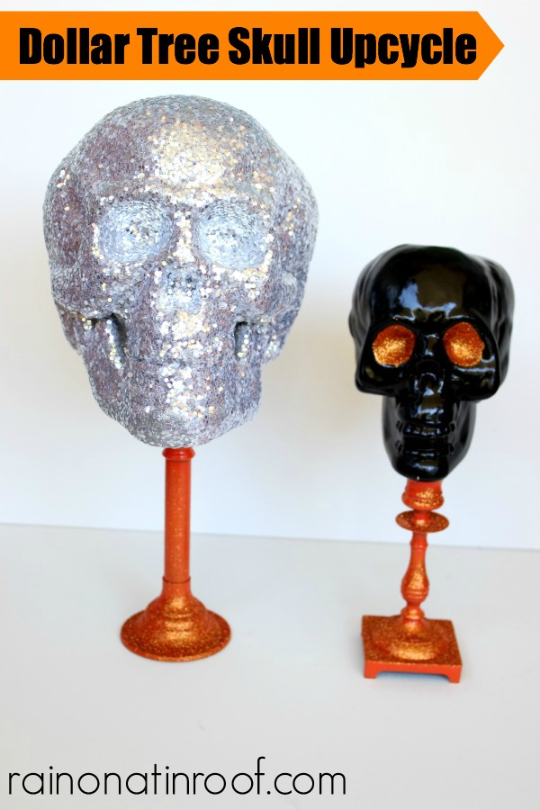 DIY Halloween Decorations - Dollar Store Skull Upcycles