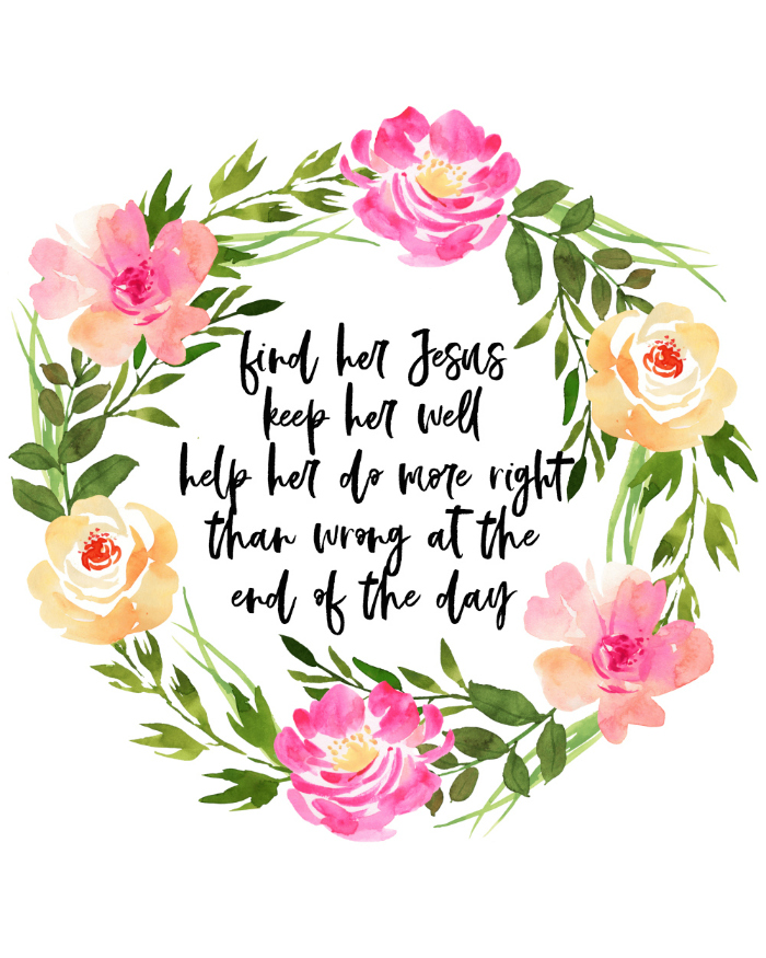 Find Her Jesus Keep Her Well Song Lyric Art