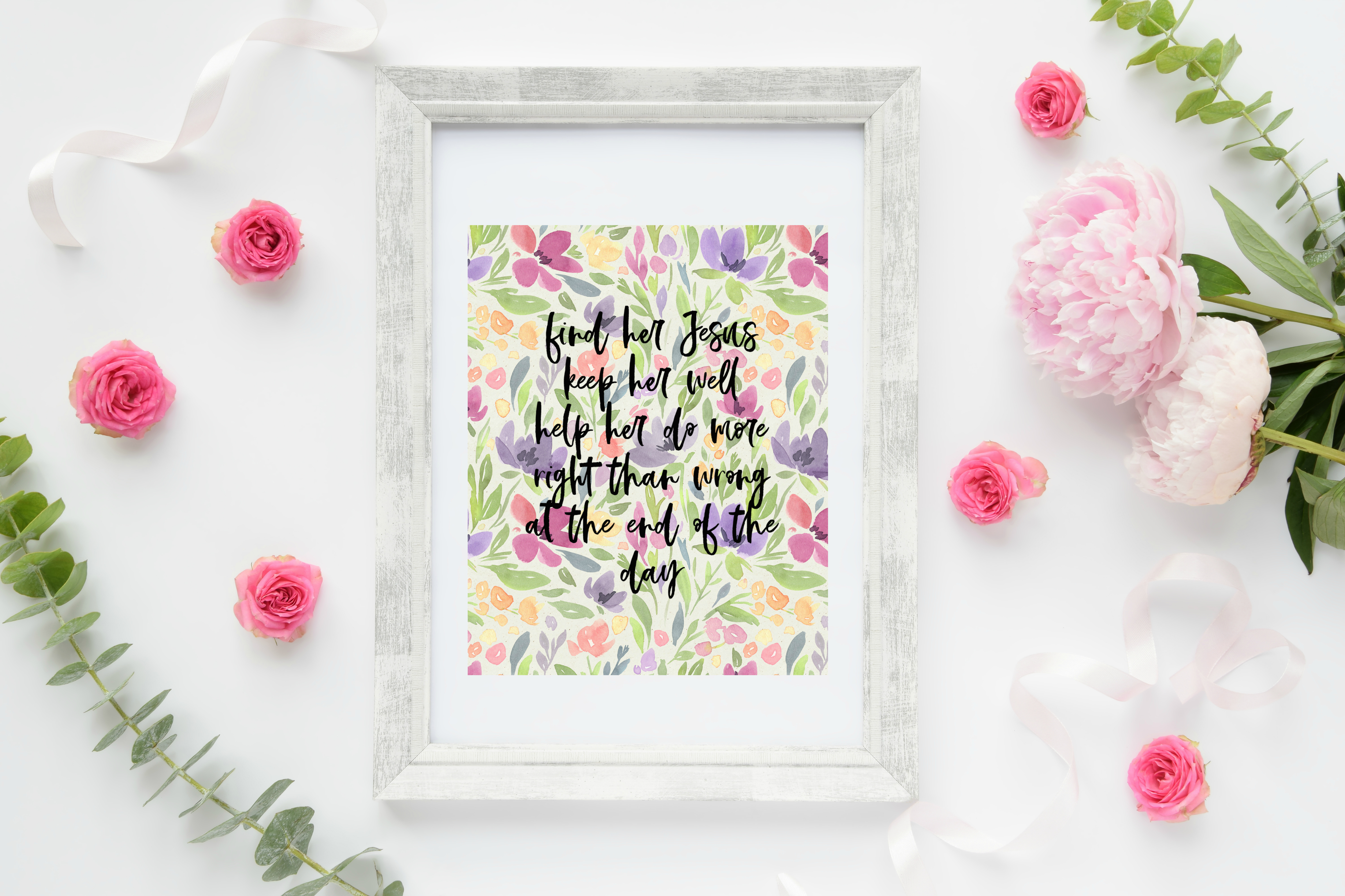 Free Printable Find Her Jesus Miranda Lambert Song Lyric Art