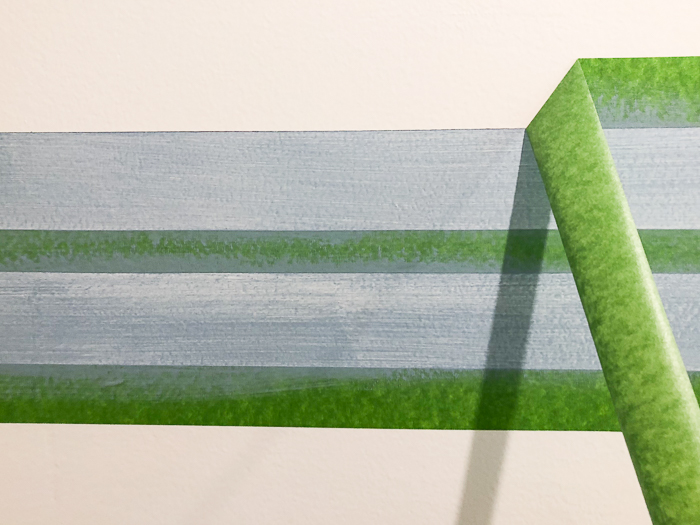 Painting Stripes on Bathroom Walls