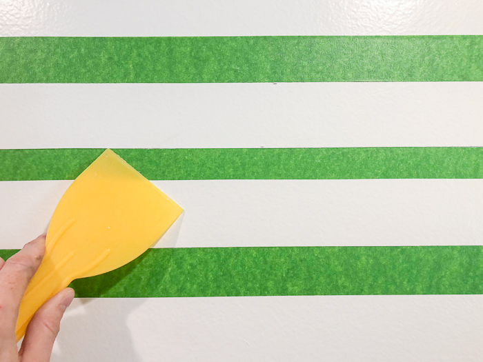 Bathroom Accent Wall with Washed Out Stripes