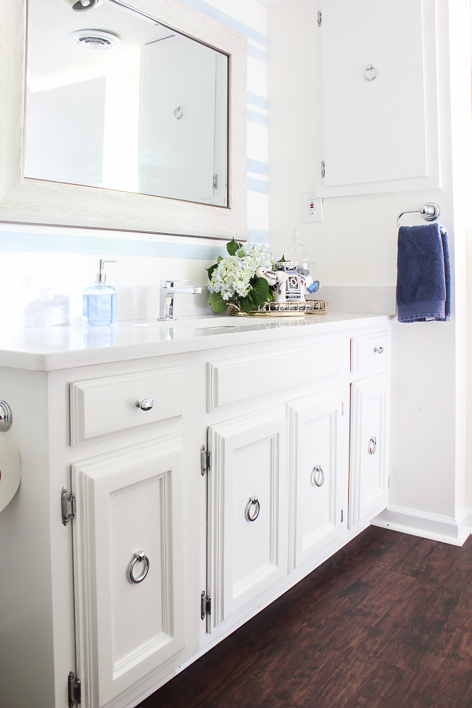 Blue and White Bathroom Remodel