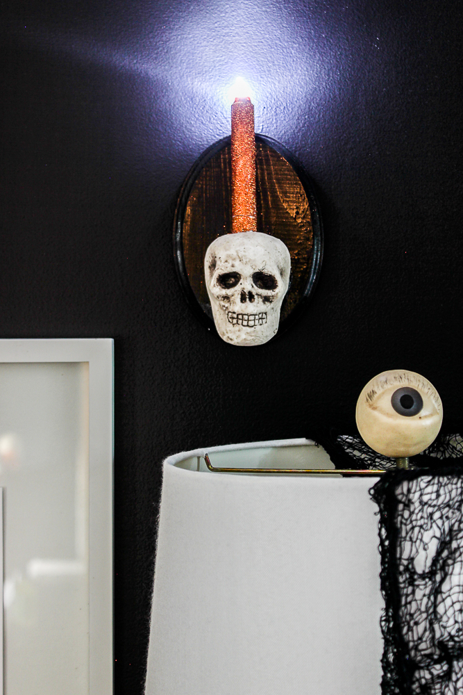Skull Sconce DIY for Halloween