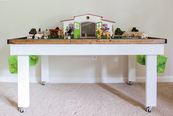 Diy Kids Play Table With Storage