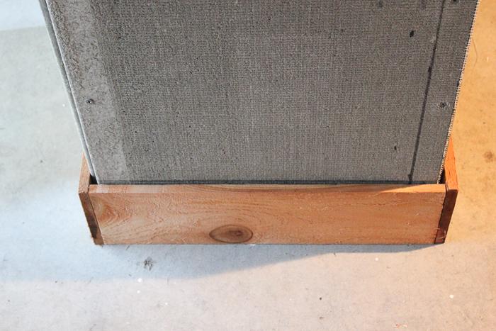 Building a cedar planter box.