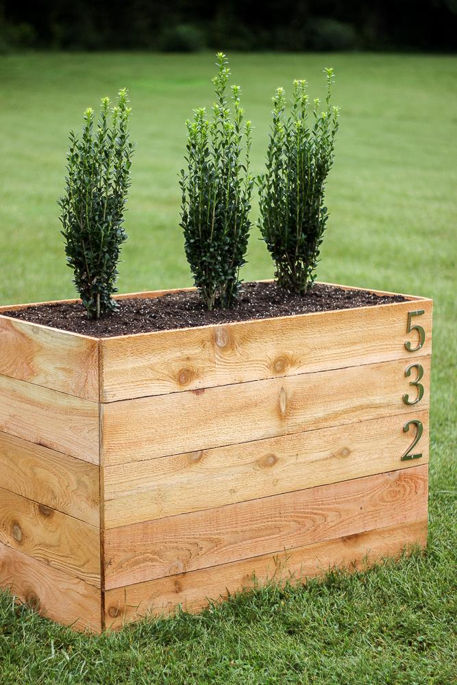 DIY Cedar Planter Box Plans