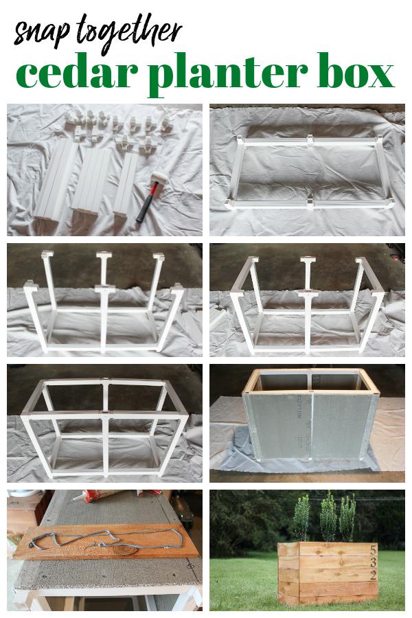 DIY Cedar Planter Box with SnapFence