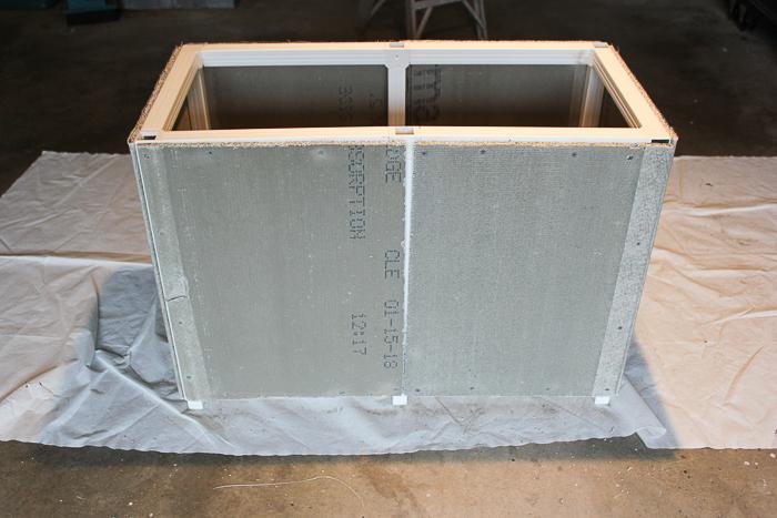 DIY Cedar Planter - assembling the side panels.