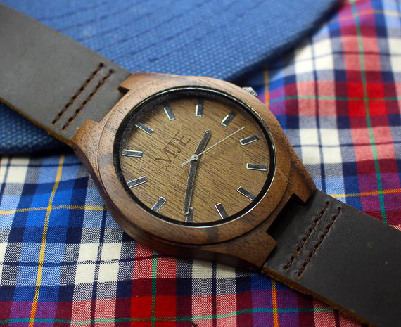 Personalized Gifts for Him - Wood Watch