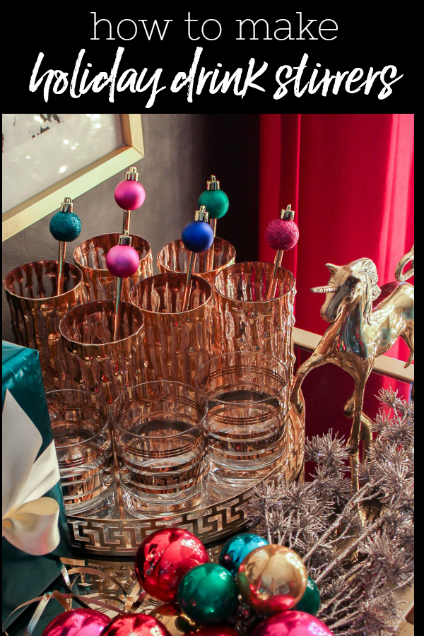 DIY Holiday Drink Stirrers