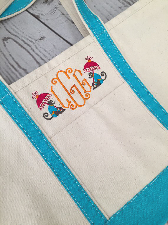 Monogrammed Gifts for Her - Tote Bag