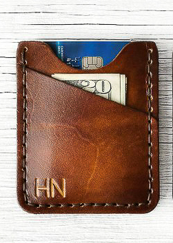 Monogrammed Leather Gifts for Men