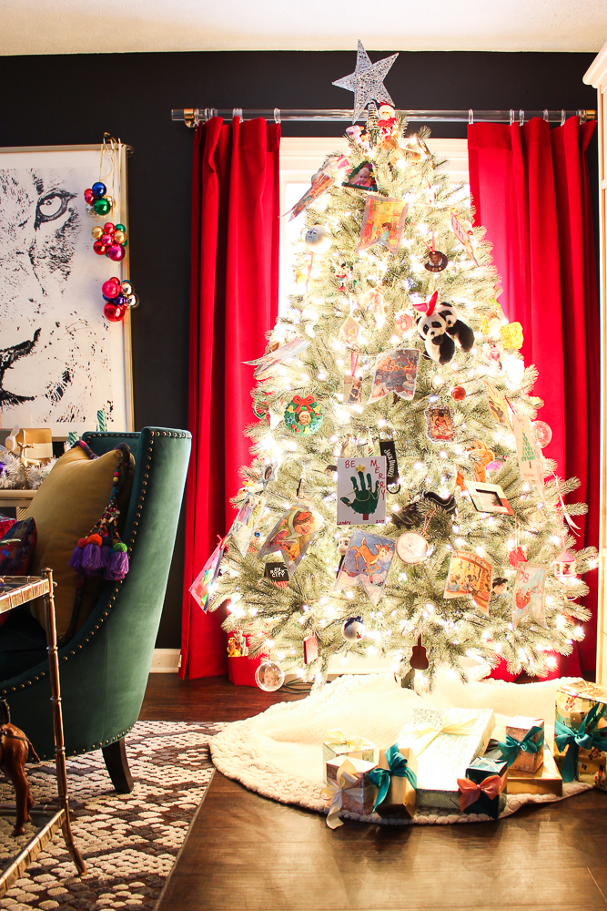 Colorful Christmas Living Room