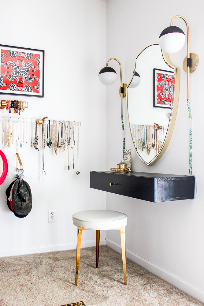 Wall Mounted Diy Makeup Vanity Table With Storage An Easy