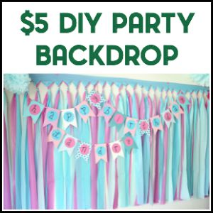 Easy DIY Party Backdrop
