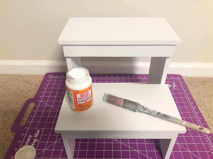 Step Stool Makeover with Mod Podge