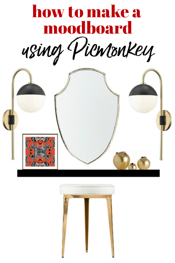 Learn how to make a moodboard using Picmonkey