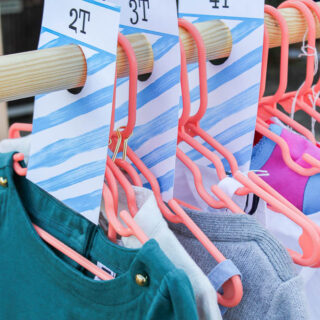 Clothing Rack Dividers - for yard sales and kids clothing - Rain on a Tin Roof