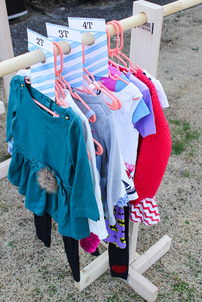Clothing Rack Dividers - Great for yard sales. - Rain on a Tin Roof