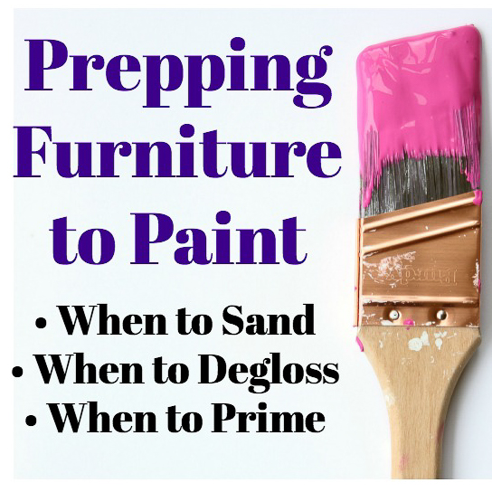 Prepping Furniture to Paint