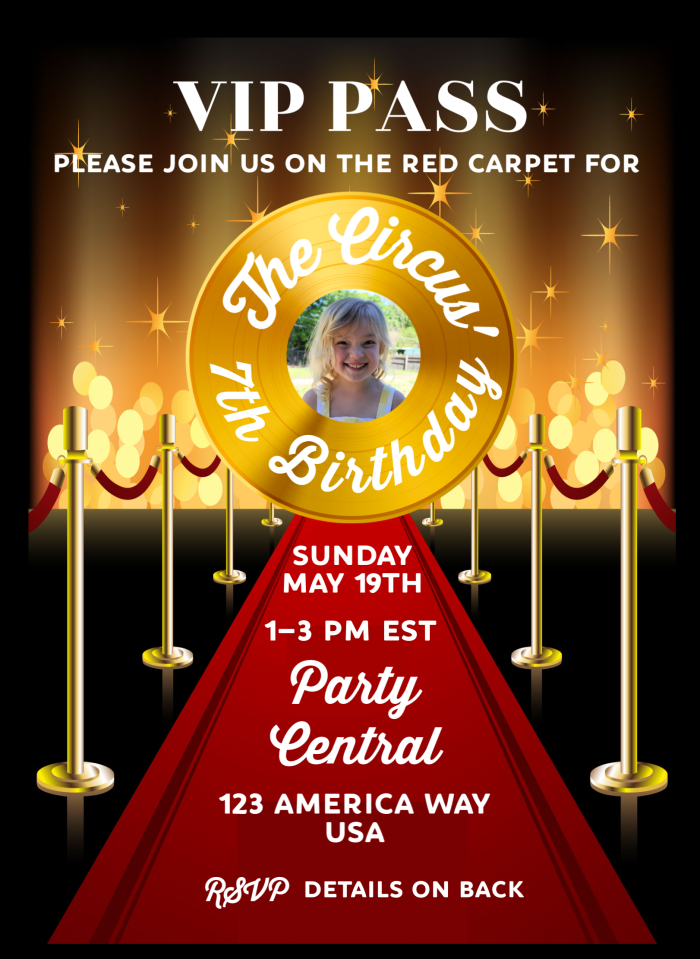 Red Carpet Theme Party