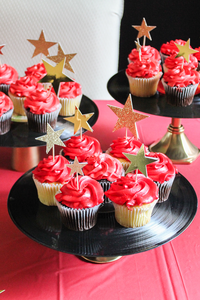 Kids Red Carpet Birthday Party Cupcake Toppers
