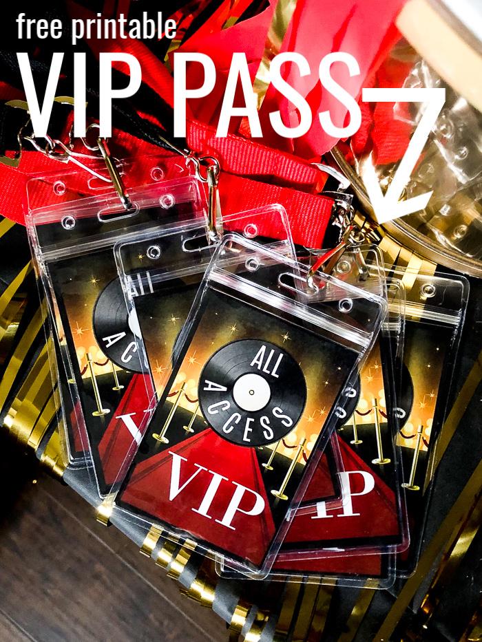 VIP Pass Printable