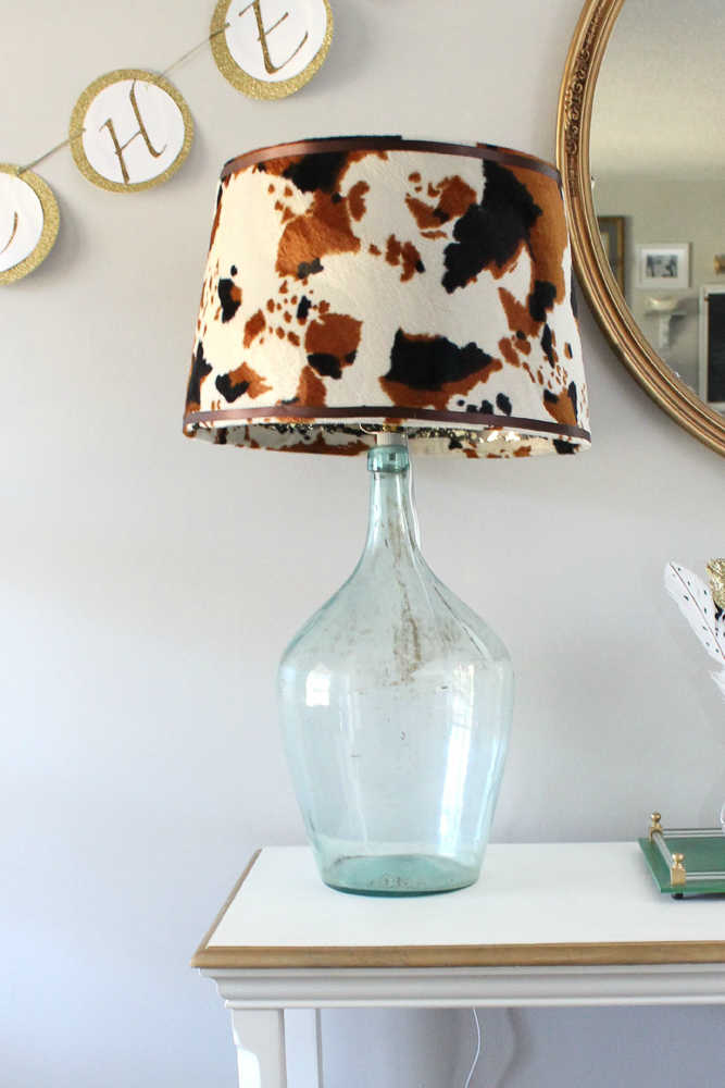 Knock Off Cowhide Lampshade