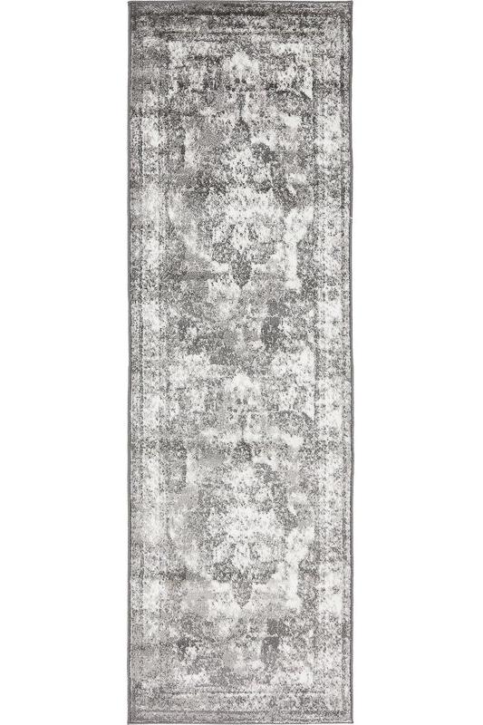 inexpensive rug runners - vintage grey rug
