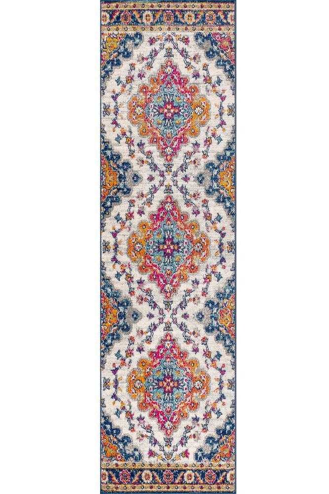 runner rug - colorful boho rug