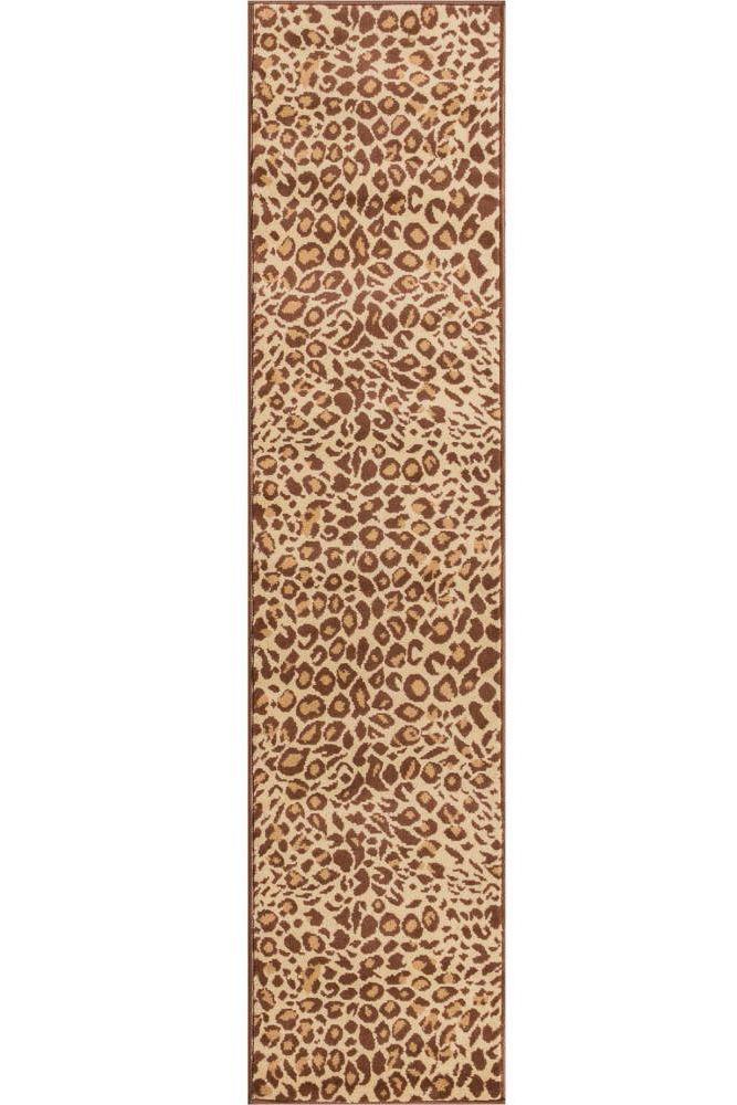affordable hallway runners - leopard print runner rug