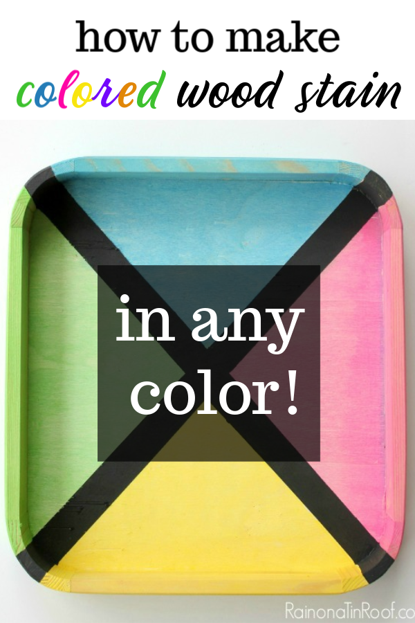 DIY Bright Colored Wood Stains on a Tray