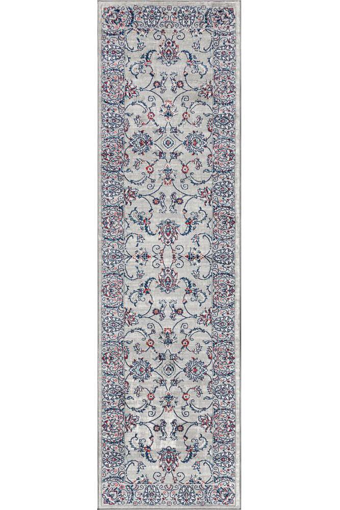 affordable runner rug - grey and pink rug