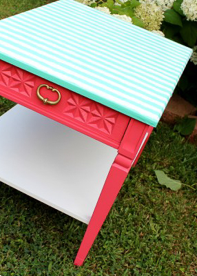 furniture painting ideas with wrapping paper