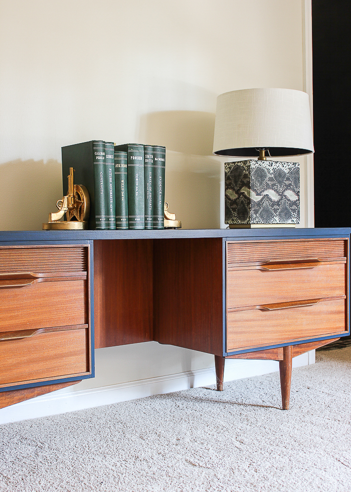 furniture painting ideas - half stained and half painted