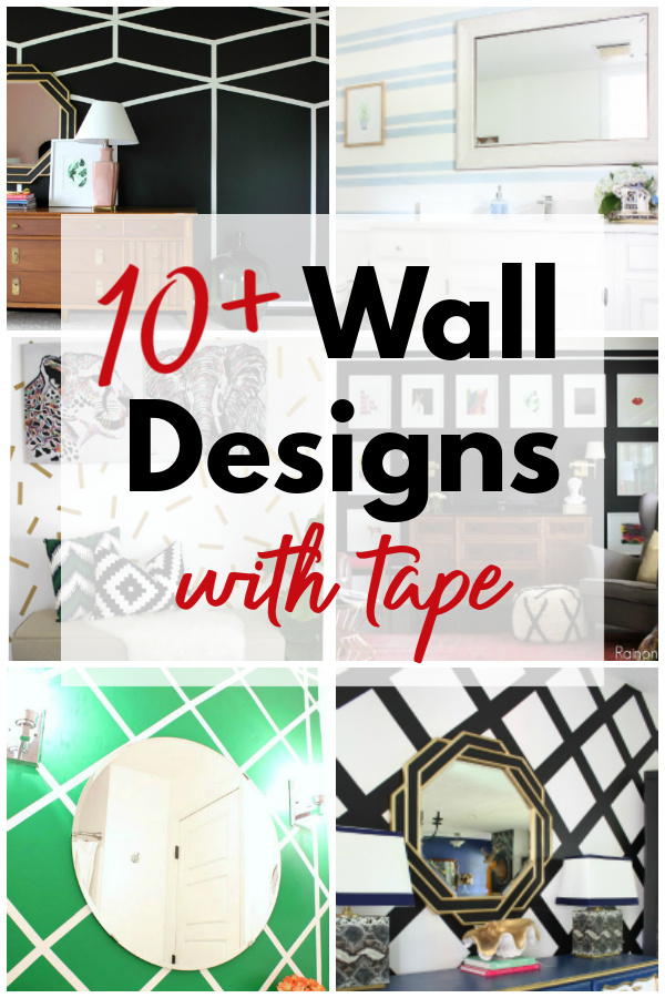 Wall Art with Tape and Paint Ideas