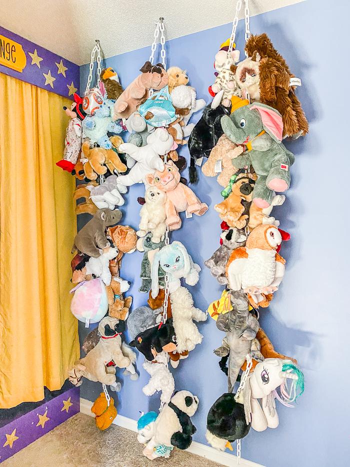 diy stuffed animal storage